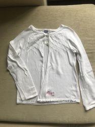 Кофта болеро Chicco 110, белая, хлопковая, нарядная