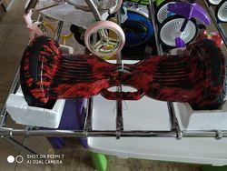Гироборд с встроенной ручкой и светящимися колесами