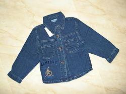Рубашка джинсовая на мальчика  4-7 лет. Уценка