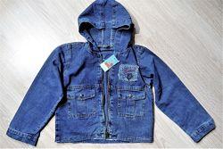 Джинсовая рубашка куртка 4-8 лет