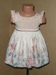 Платье  MONSOON с феечками на 9-18мес. в идеальном состоянии.