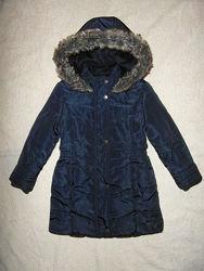 Теплая демисезонная удлиненная куртка - пальто Jasper Conran  на 6 лет