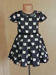 Классика, платье нарядное на 4 года, в мишках