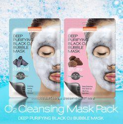 Очищающая кислородная маска для лица Purederm Deep Purifying Black O2 Bubbl