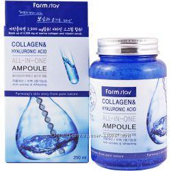 Сыворотка с коллагеном и гиалуроновой кислотой FARMSTAY Collag Hyalur 250мл