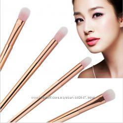 Набор золотых кисточек для нанесения макияжа, 4 шт