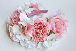Свадебные ободки  с цветами и ягодами