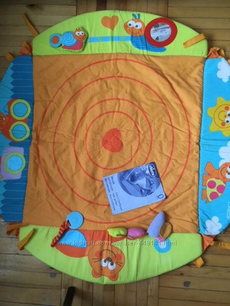 Развивающий коврик Chicco Уютное гнездышко плюс интерактивная книжка