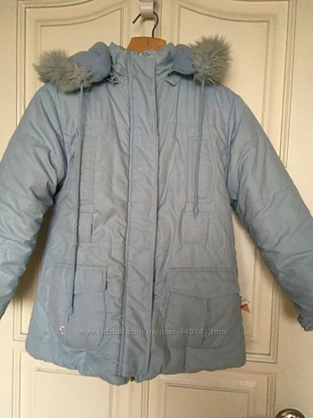 Зимняя куртка, пальто на рост 128-140