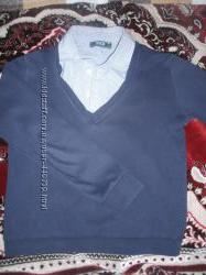 рубашка, обманка-свитерок