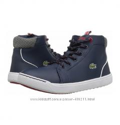 Детские кожаные хайтопы, ботинки Lacoste, оригинал