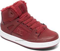 Детские утепленные кожаные хайтопы DC Shoes, оригинал