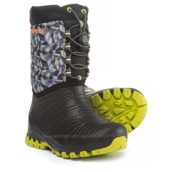 Детские зимние сапоги, сноубутсы, Merrell Snow Quest Boots, оригинал