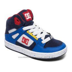 Детские высокие кожаные кроссовки, хайтопы DC Shoes, оригинал
