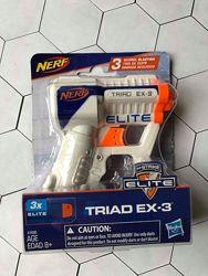 Оригинал Hasbro NERF N-Strike Elite Triad EX-3 бластер Нерф