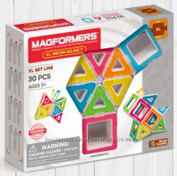 Оригинал Магнитный конструктор Magformers Neon 30 pcs