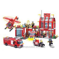 Конструктор Brick Пожарная серия, brick 904, 905, 906, 907, 908, 910, 911