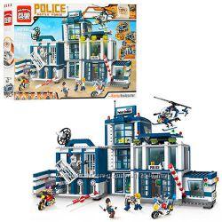 Конструктор Brick Полицейская серия, полицейский участок, brick 129, 110 др