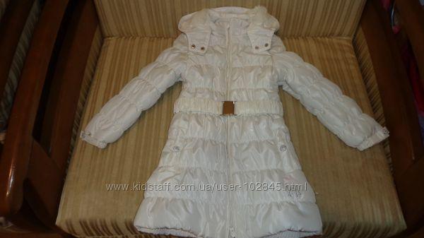 Красивое зимнее пальто KANZ р 116-122-128.