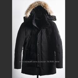 Куртка молодежная удлиненная  с натуральным мехом 46-48-50