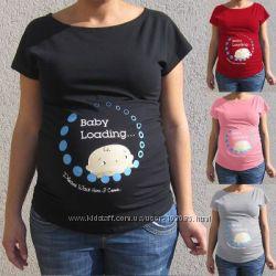 Футболка для беременных с принтом S-XL
