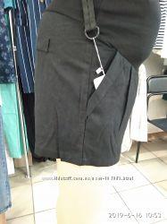 Льняные шорты со вставкой для беременных