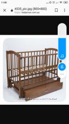 Кроватка Babymax Сонька. В идеальном состоянии ванночка в подарок