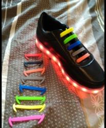 Силиконовые шнурки 16шт в упаковке
