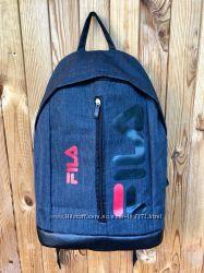 Стильный городской спортивный рюкзак Fila, с кожаным дном, цвет серый