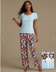 Шикарнаые женские хлопковые пижамы MarksSpenser, размер S, M, L
