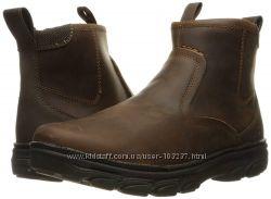 Демисезонные, кожаные ботинки Skechers, оригинал
