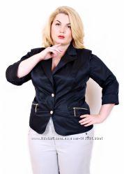 пиджак стрейч коттон - рукав 34 - 58 размер