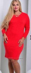 красное и теплое платье -56р - полномерное