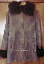 Натуральная дубленка, мех ламы - р. 46