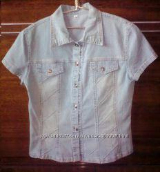 Классный джинсовый пиджак на лето - р. S