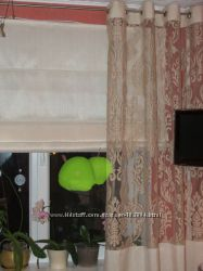 Римская штора с боковой гардиной