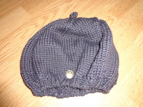 Шапочка - берет зимняя вязанная, размер 52- 54.