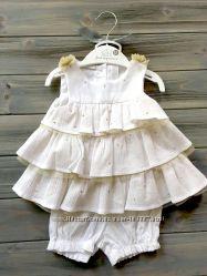 Нарядный комплект платье с шортиками