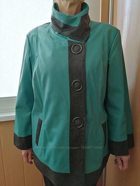 Стильная элегантная женская кожаная куртка, Р-54, Barutti, Италия