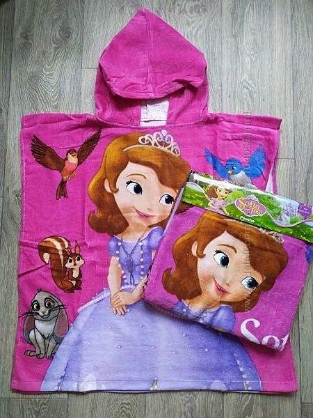 Распродажа. Шикарное полотенце пончо, полотенце с Софией, Disney для девочк