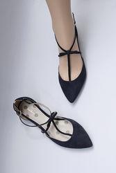 39р. 25 см Английские кожаные замшевые туфли Boden