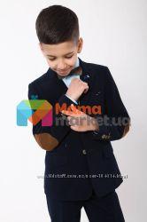 Вельветовый школьный костюм для мальчика Lilus черные и синие. Шоу-рум