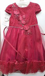Бордовое Платье на девочку Турция