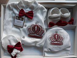 Подарочный Набор для Новорожденного бордо Турция