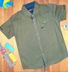 Рубашка на мальчика - Troy - Турция   Темно-зеленая