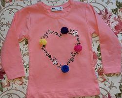модная кофточка на девочку  Турция  фирма Tuffy  Розовая