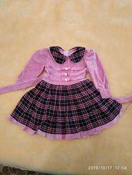 платье велюр на девочку от 2 до 4 лет