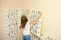Мягкие обои раскраски 3Д, 3D панели в детскую комнату, самоклейка