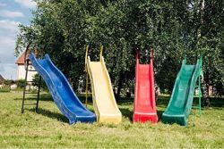 Детская горка спуск длиной 2,2 или 2,9 метра, можно подключить воду