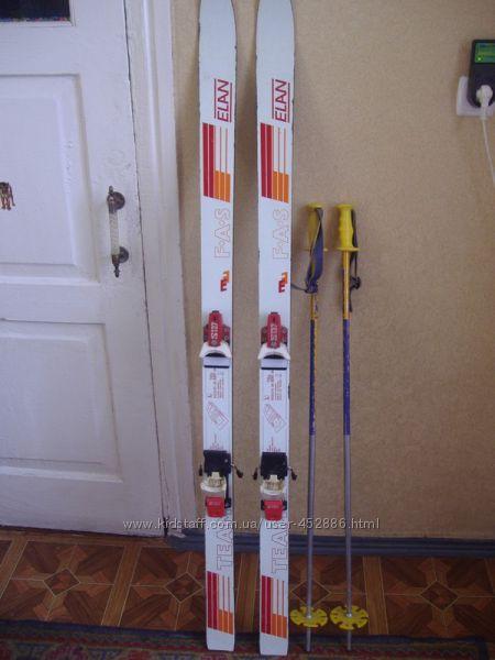 Лыжи горные с палками привезены из Германии ростовка 150